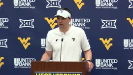 Neal Brown postgame (Gold-Blue Game)