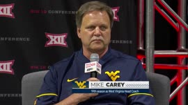Mike Carey at Big 12 Media Days (Big 12 Now broadcast)